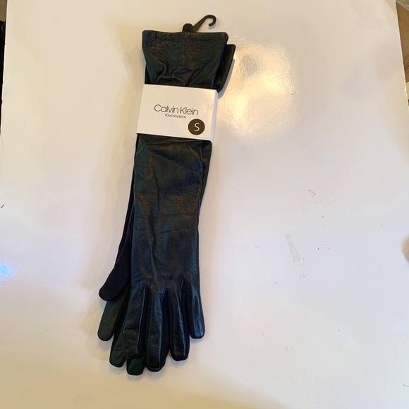 Calvin Klein Long Black Touchscreen Gloves Small